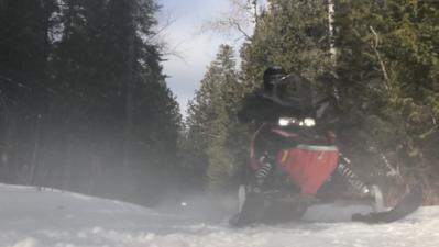 Moose Lake sledding