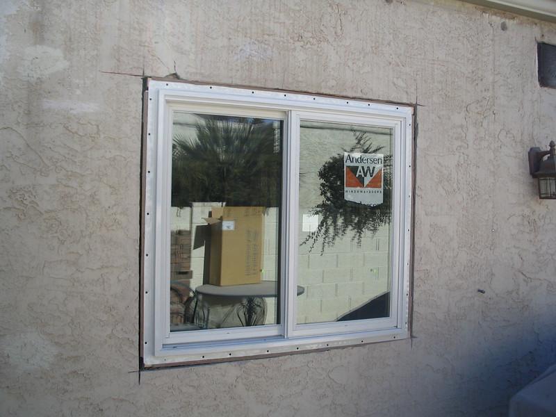 The new kitchen window.