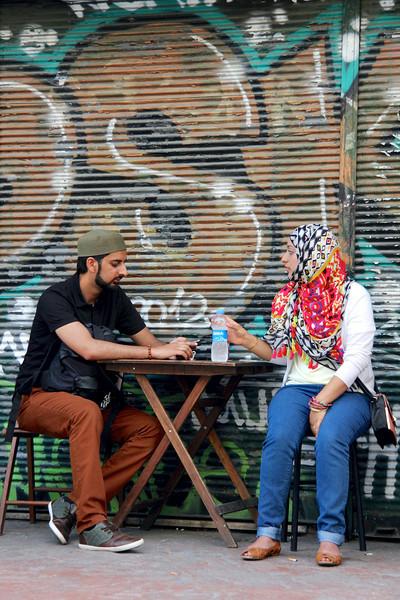 Street scene Beyoğlu district - Istanbul