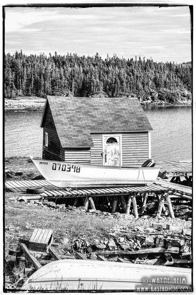 My Fishing House    Black & white Photography by Wayne Heim