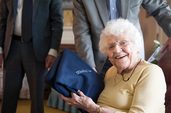 Centenarian Alumni, Vivian Roberts, May 2018