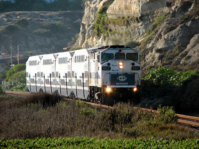 Metrolink at San Clemente Beach, California