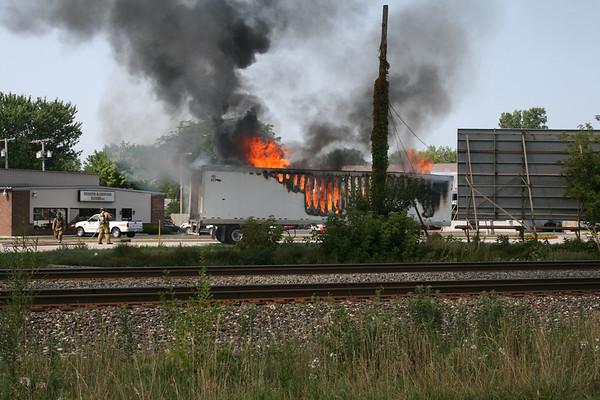 Truck Trailer Fire August 2007