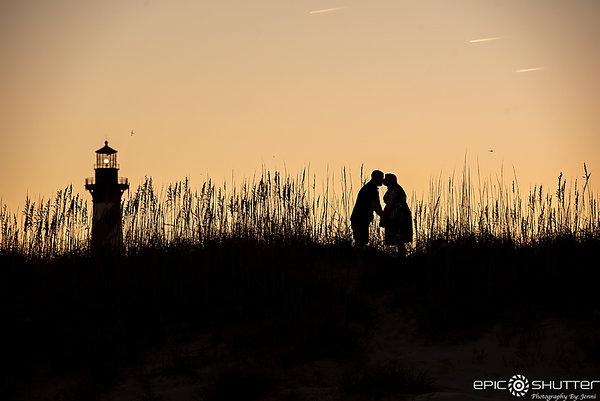 Christin and Nathan, Cape Hatteras Lighthouse,