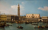 The Molo from the basin of San Marco, Venice, 1747, by Canaletto.  Amazing almost photographic detail.  Reminds me of a James Gurney.