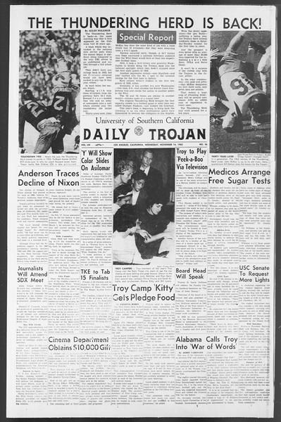 Daily Trojan, Vol. 54, No. 36, November 14, 1962