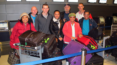 Family Leaving for Philippines, Lehigh Valley Airport, Allentown (11-27-2013)
