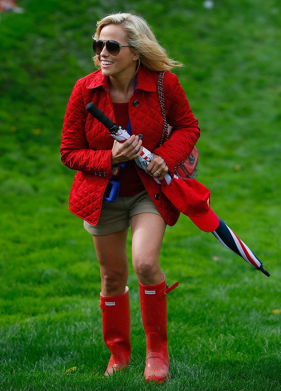 . Amy Mickelson walks to the green on the 18th hole during the Day Four Singles Matches at the Muirfield Village Golf Club on October 6, 2013  in Dublin, Ohio.  (Photo by Matt Sullivan/Getty Images)