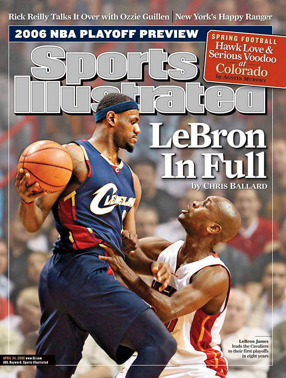 . LeBron James Sports Illustrated cover.