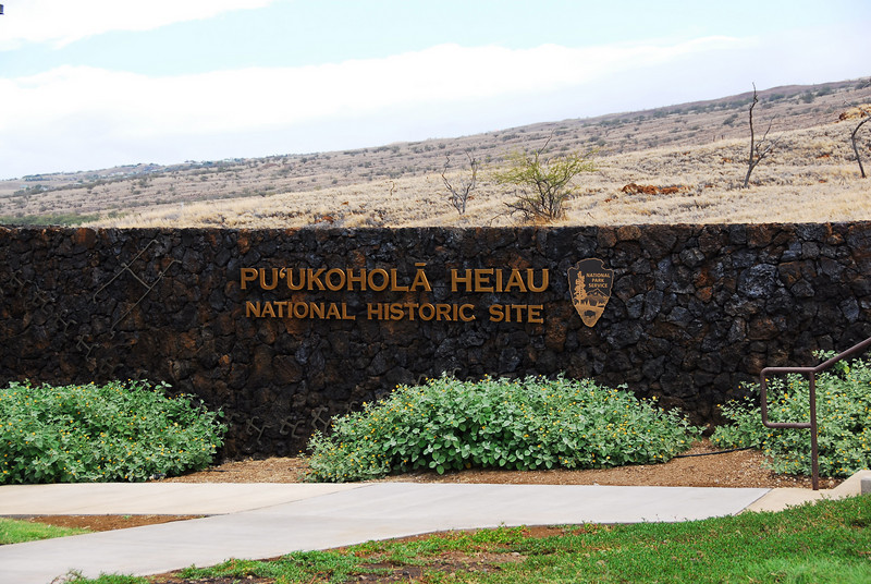 Sign at Puʻukoholā Heiau National Historic Site, Hawaii