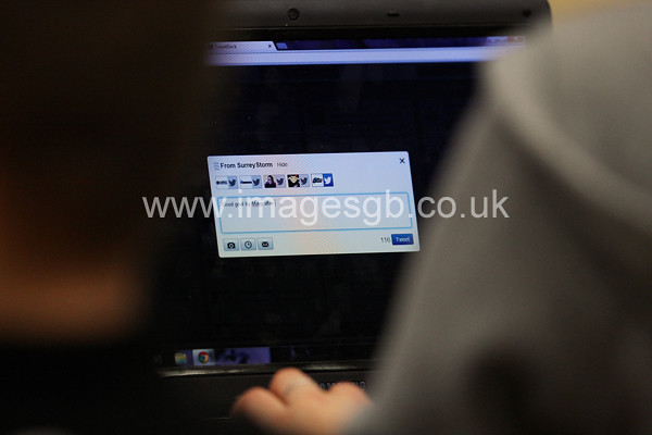 During  Surrey Storms 63 v 42 win against Hertfordshire Mavericks at Surrey Sports Park on the 29 April 2013 (ImagesGB)