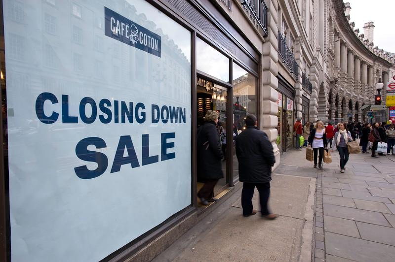 People and shops on Regent Street London, United Kingdom