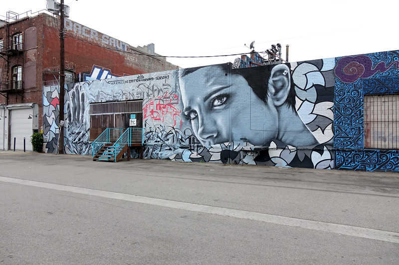 A permissioned wall at the Container Yard,, a collection of galleries in downtown Los Angeles