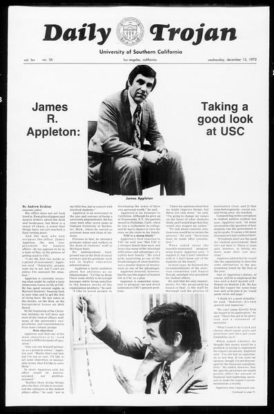 Daily Trojan, Vol. 65, No. 56, December 13, 1972