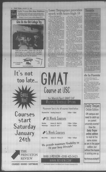 Daily Trojan, Vol. 133, No. 9, January 22, 1998