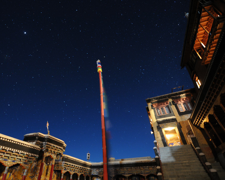 Thiksey Monastery at night