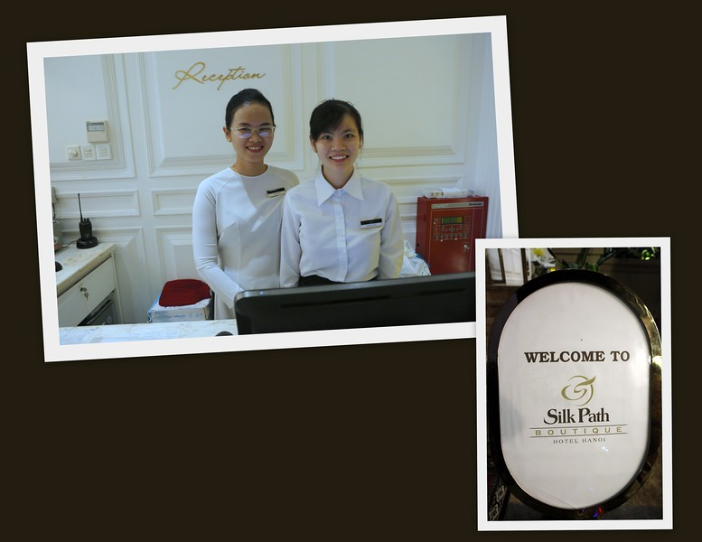 Receptionists at the Silk Path Boutique