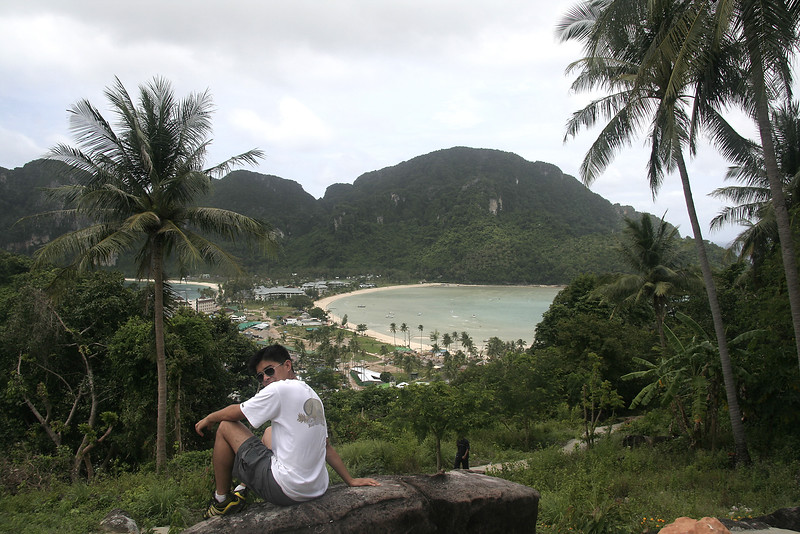Tuan enjoying the view of te island