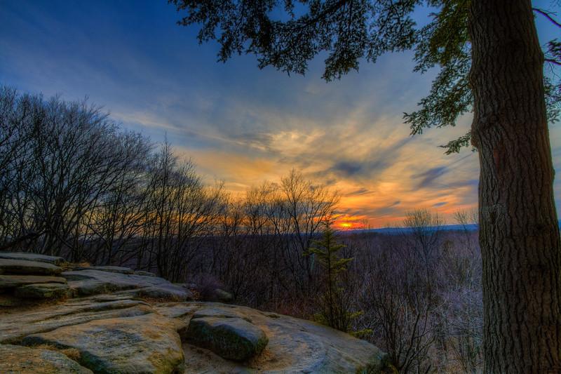 Kendall Cliffs Winter Sunset