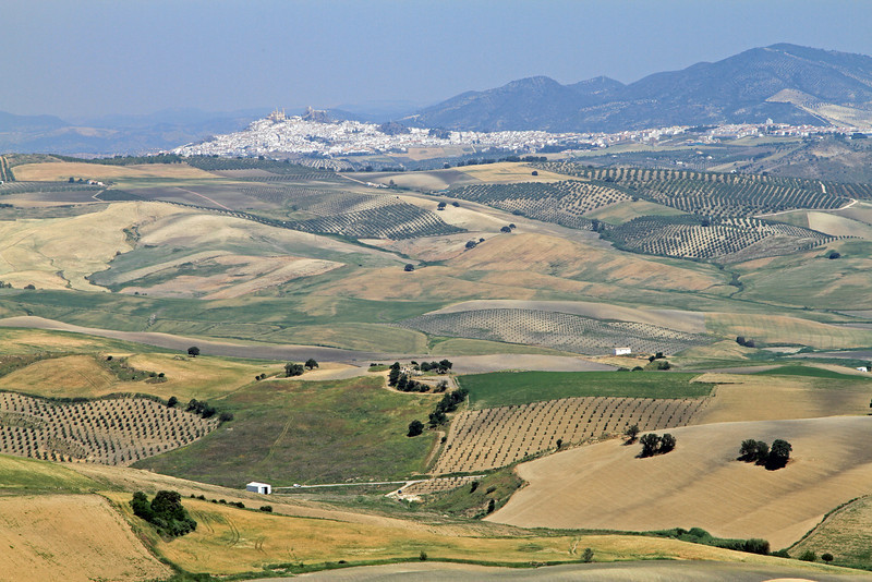 White Villages on a hilltop near Ronda.