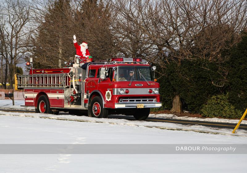 Santa On A Fire Sleigh