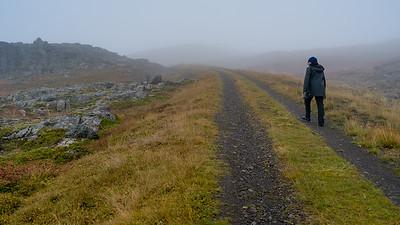 Hike into the fog
