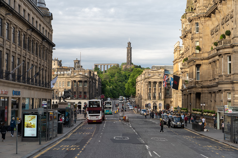 Prince's Street in Edinburgh