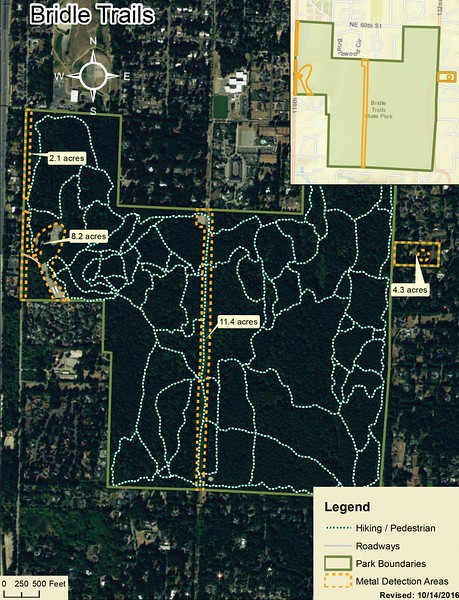 Bridle Trails State Park (Metal Detection Areas)