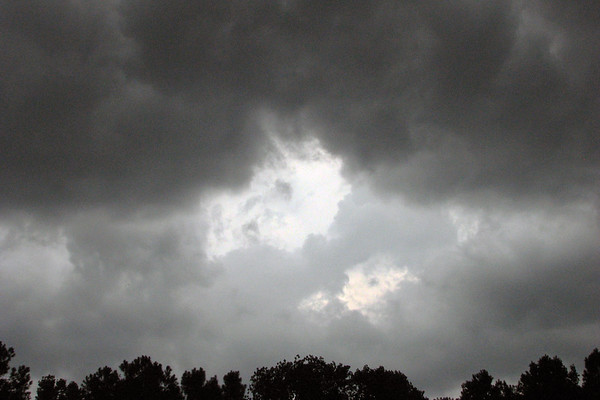 August 13:  A lot of dark clouds, but no rain .  .  .