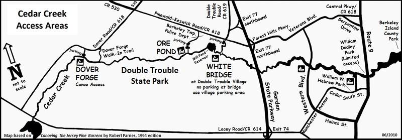 Double Trouble State Park (Cedar Creek Access Areas)