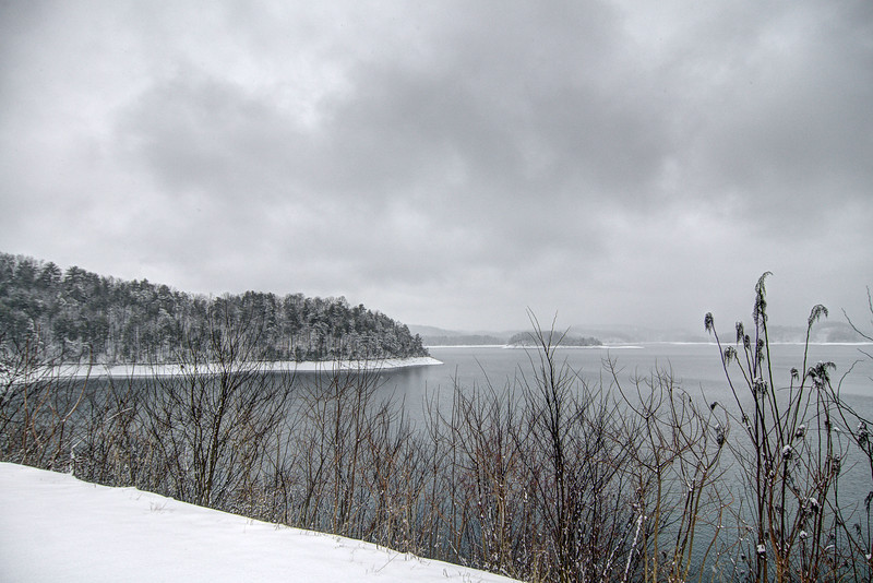 A thick snow covers the ground surrounding South Holston Lake in Bristol, TN on Thursday, February 13, 2014. Copyright 2014 Jason Barnette