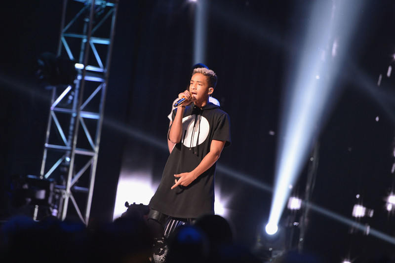 . Jaden Smith performs at BET\'s Rip The Runway 2013:Show at Hammerstein Ballroom on February 27, 2013 in New York City.  (Photo by Stephen Lovekin/Getty Images for BET\'s Rip The Runway)
