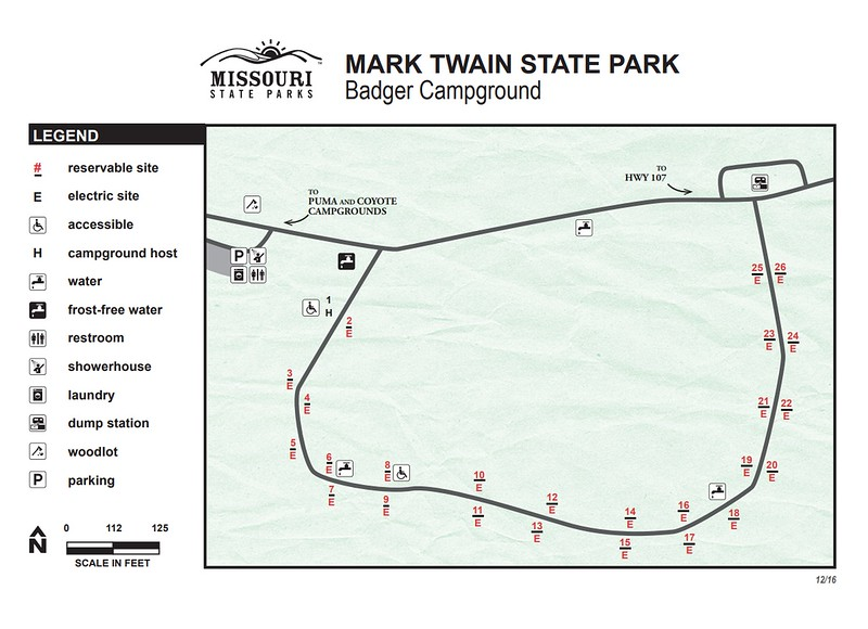 Mark Twain State Park & Historic Site (Badger Campground)