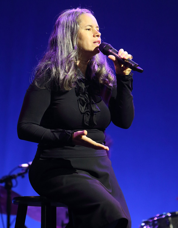 . Singer-songwriter Natalie Merchant performs in concert at the American Music Theater on Wednesday, July 9, 2014, in Lancaster, Pa. Merchant is performing at Playhouse Square on July 8. For more information, visit www.playhousesquare.org/events/detail/natalie-merchant-summer-tour-2017. (Photo by Owen Sweeney/Invision/AP)