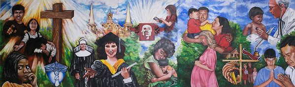Worden School OLLU Mural for 75th Year Celebration