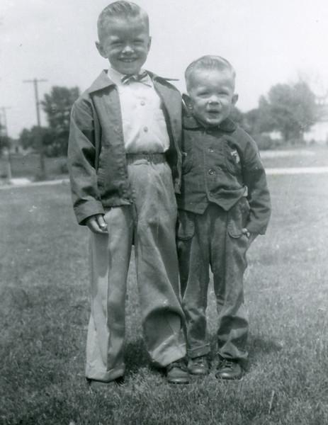 Circa: 1954, Jay & John