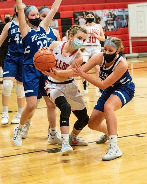 2021 Varsity Girls Basketball:  Hall-Dale vs Madison