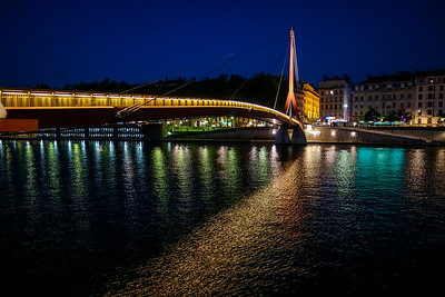 Walking bridge on the Saone River