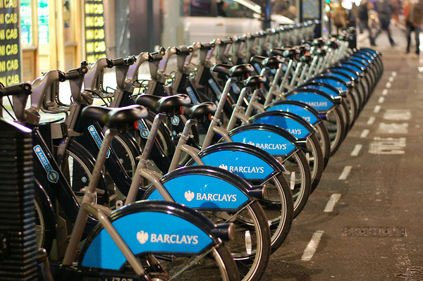 Boris Bikes in Soho