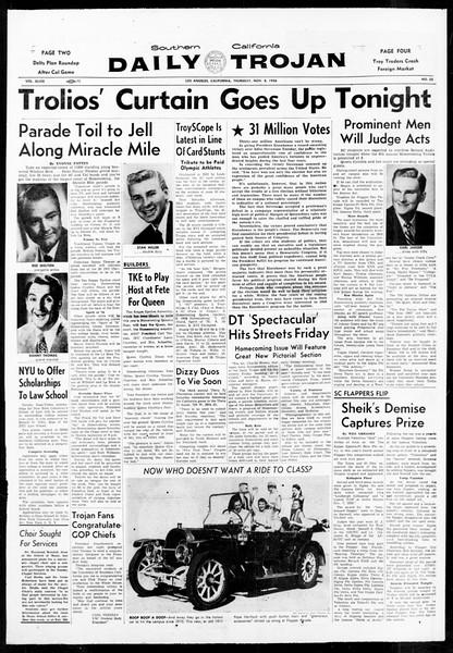 Daily Trojan, Vol. 48, No. 35, November 08, 1956