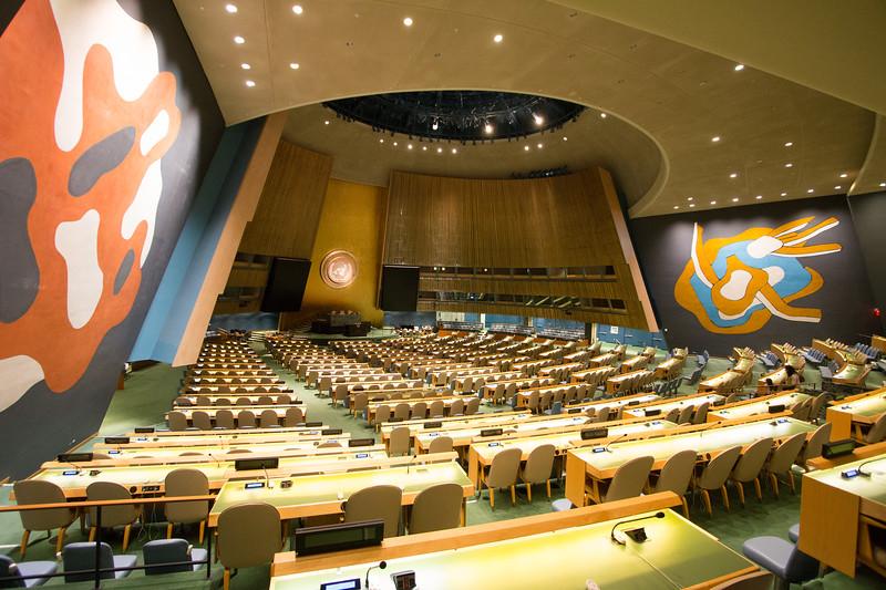 Rafael and David visit the United Nations, New York.