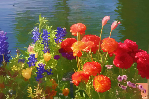 Digital Painted Florals