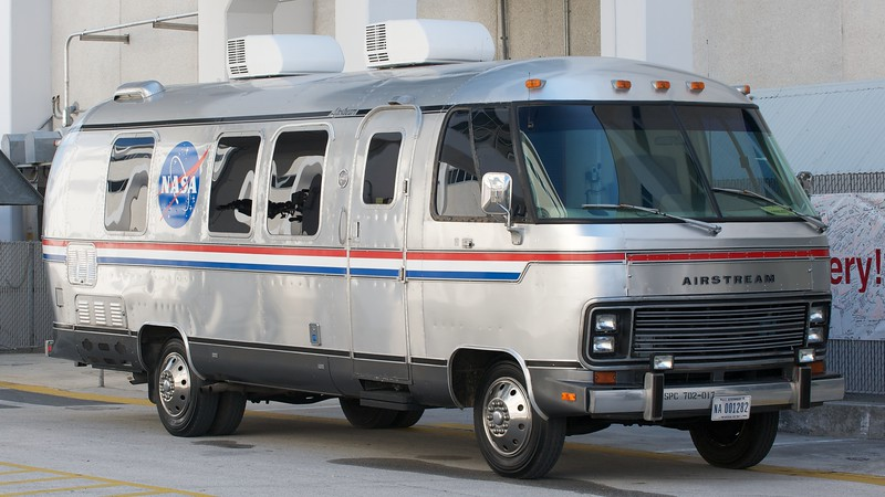02/24/2011 -- Cape Canaveral, Florida -- The Astrovan will transport space shuttle Discovery's STS-133 crew from the Operations and Checkout Building to Launch Pad 39A Thursday afternoon at Kennedy Space Center.