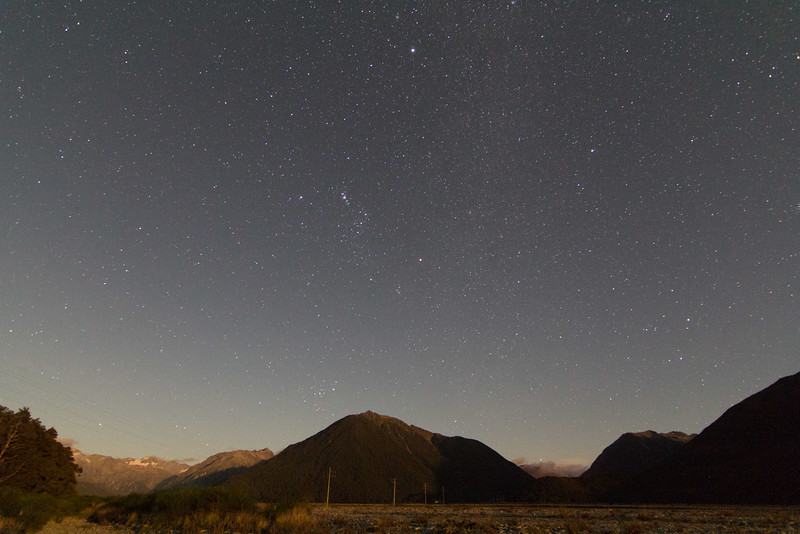 Orion over the NZ Southern Alps - 26/3/2016