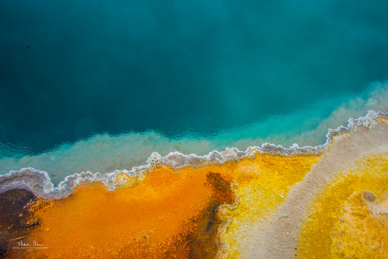 Black Pool at West Thumb Geyser Basin.  June 28, 2014.