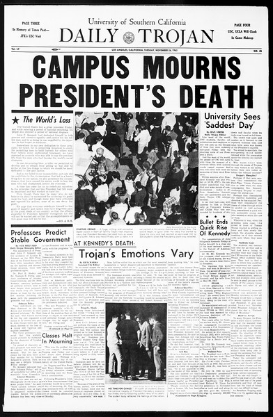 Daily Trojan, Vol. 55, No. 45, November 26, 1963