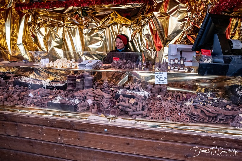 Amazing chocolate tools on a Christmas Market stall in Vienna