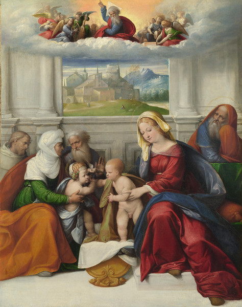 The Holy Family with Saints