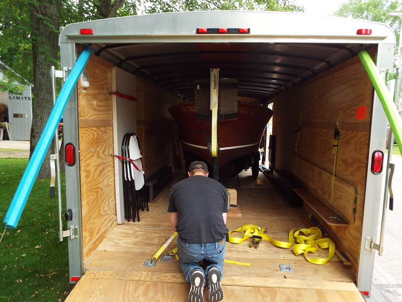 Bailey Blue loaded and ready to go to the 2019 Algonac boat show.
