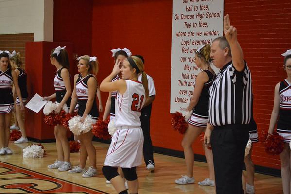 Duncan girls basketball vs Altus